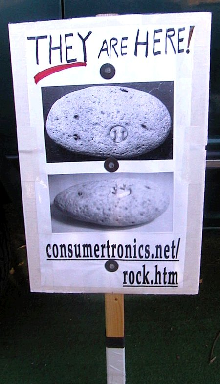 Consumertronics rules! (Mystery Rock - Alien or UFO origin? Advanced Ancient Civilization? Modern Man-Made?)